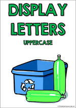 Display Letters | Uppercase | Green | Set 9