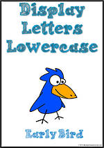 Display Letters | Lowercase | Blue | Set 13
