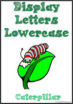 Display Letters | Lowercase | Green | Set 17
