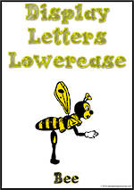 Display Letters | Lowercase | Yellow | Set 19