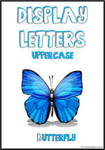 Display Letters | Uppercase | Blue | Set 21