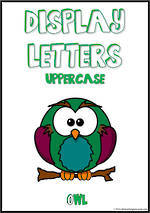 Display Letters | Uppercase | Green | Set 23