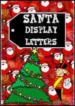 Instant Display | Uppercase Letters | Santa  Design