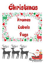 Christmas | Reindeer Theme | Frames – Labels - Tags