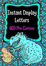 Instant Display  | Uppercase & Lowercase Letters  | Geometric Design | QLD Pre Cursive