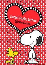 Instant Display  | Uppercase & Lowercase Letters  | Snoopy Design | QLD Pre Cursive