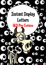 Instant Display  | Uppercase & Lowercase Letters  | Googly Eyes Design | QLD Pre Cursive