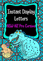 Instant Display  | Uppercase & Lowercase Letters  | Geometric Design | NSW-NZ  Pre Cursive