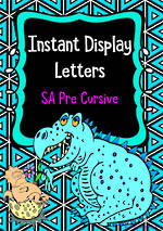 Instant Display  | Uppercase & Lowercase Letters  | Triangle Design | SA Pre Cursive
