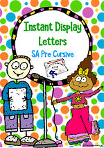 Instant Display | Uppercase & Lowercase Letters | Polka Dot Design | SA Pre Cursive