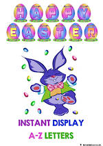 Easter Eggs| Instant Display | Uppercase Letters