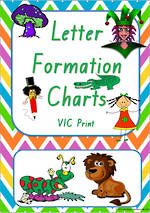 Foundation Handwriting | Letter Formation |  Charts | VIC Print