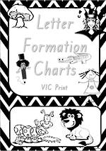 Foundation Handwriting   Letter Formation   Black and White   Charts   VIC Print