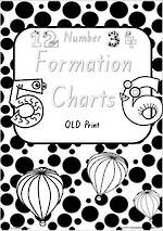 Foundation Handwriting | Number Formation| Charts | QLD Print