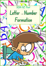 Foundation Handwriting | Formation | Letter – Number  | Charts | NSW – NZ  Print