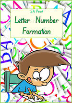 Foundation Handwriting | Formation | Letter – Number  | Charts | SA Print