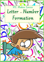 Foundation Handwriting | Formation | Letter – Number | Charts | VIC Pre Cursive