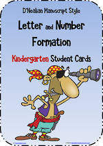Kindergarten Handwriting | Letter Formation | Cards | D'Nealian Manuscript