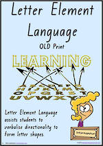 Foundation Handwriting | Terminology | Letter Element | Charts | QLD Print