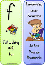 Foundation Handwriting | Terminology | Bookmark | Lowercase Letter | Cards | SA Print