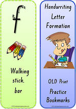 Foundation Handwriting | Terminology | Bookmark | Lowercase Letter | Cards | QLD Print