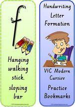 Foundation Handwriting | Terminology | Bookmark | Lowercase Letter | Cards | VIC PreCursive