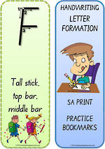 Foundation Handwriting | Terminology | Bookmark | Uppercase Letters | SA Print