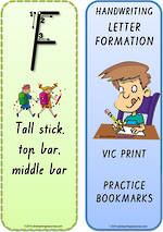 Foundation Handwriting | Terminology | Bookmark | Uppercase Letters | VIC Print