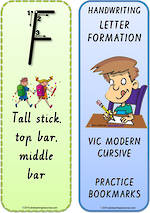 Foundation Handwriting | Terminology | Bookmark | Uppercase Letter | Cards | VIC PreCursive