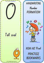 Foundation Handwriting | Terminology | Bookmark | Number | Cards | NSW-NZ Print