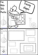 Foundation Handwriting | Practice | Tracing Shapes | Black and White | Charts | NSW-NZ Print