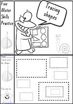 Foundation Handwriting   Practice   Tracing Shapes   Black and White   Charts   VIC Print