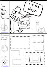 Foundation Handwriting | Practice | Tracing Shapes | Black and White | Charts | VIC PreCursive