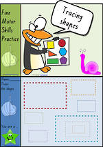Foundation Handwriting | Practice | Tracing Shapes | Colour Charts | VIC Print