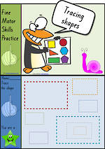 Foundation Handwriting | Practice | Tracing Shapes | Colour Charts | QLD Print