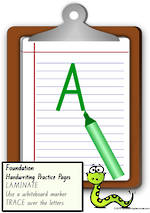 Foundation Handwriting | Practice | Letter | Charts | QLD Print