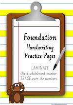 Foundation  Handwriting | Practice | Number | VIC PreCursive