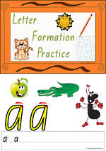 Foundation Handwriting | Practice | Letter Formation | Colour Charts | QLD Print
