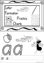 Foundation Handwriting | Practice | Letter Formation | Black and White | Charts | SA Print