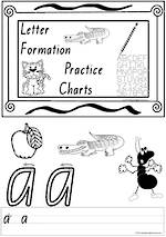 Foundation Handwriting | Practice | Letter Formation | Black and White | Charts | QLD Print