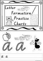 Foundation Handwriting | Practice | Letter Formation | Black and White | Charts | VIC PreCursive