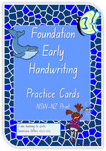 Foundation Handwriting | Practice | Lowercase Letters | Cards | NSW-NZ Print