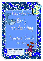 Foundation Handwriting | Practice | Lowercase Letters | Cards | VIC Print