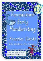 Foundation Handwriting | Practice | Lowercase Letters | Cards | VIC PreCursive