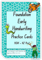Foundation Handwriting | Practice | Lowercase - Uppercase Letter |  Cards | NSW-NZ Print