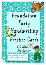 Foundation Handwriting | Practice | Lowercase - Uppercase Letter |  Cards | VIC PreCursive