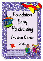 Foundation Handwriting    Practice   Lowercase Words   Cards   SA Print