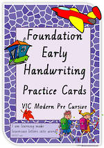 Foundation Handwriting | Practice | Lowercase Words | Cards | VIC  PreCursive