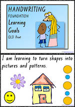 Foundation Handwriting | Visible Learning | Learning Goals | Charts | QLD Print