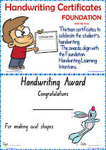 Foundation Handwriting   Visible Learning   Achievement Certificates   NSW-NZ Print
